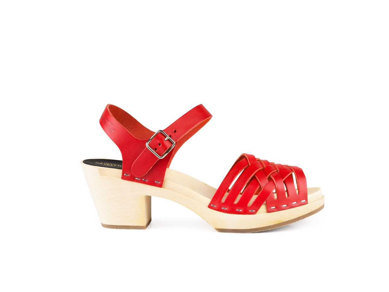 Visit Outlet Explore Swedish Hasbeens Women's Braided High Open Toe Sandals Sale Order Discount Order 4MrI0