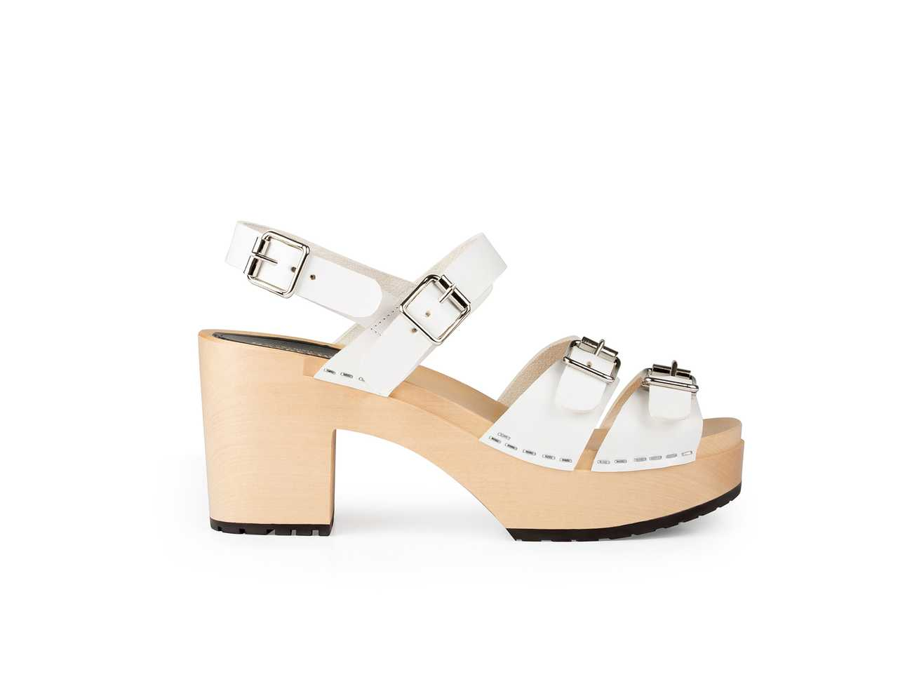 Buckle Sandal White