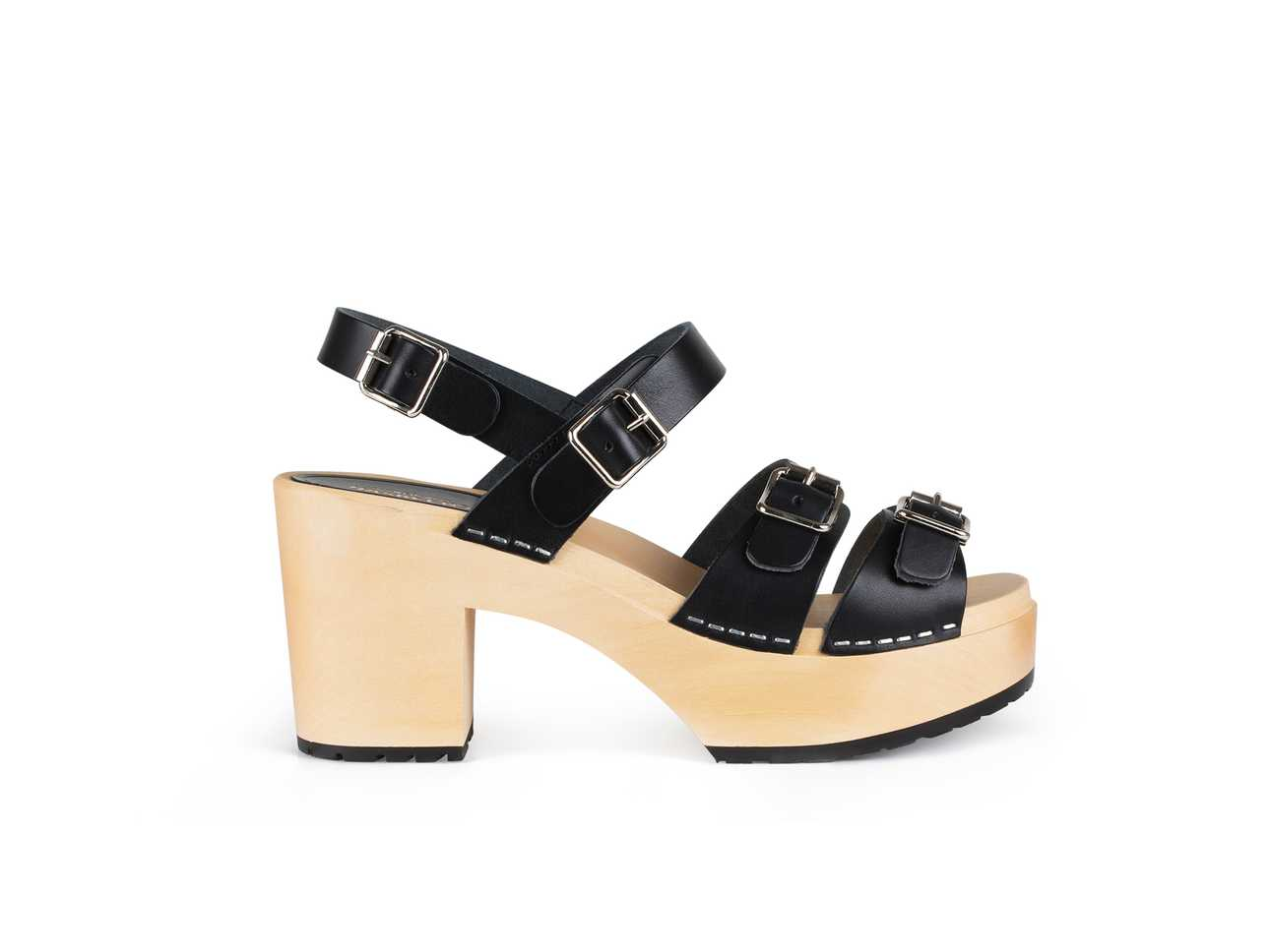 Buckle Sandal Black