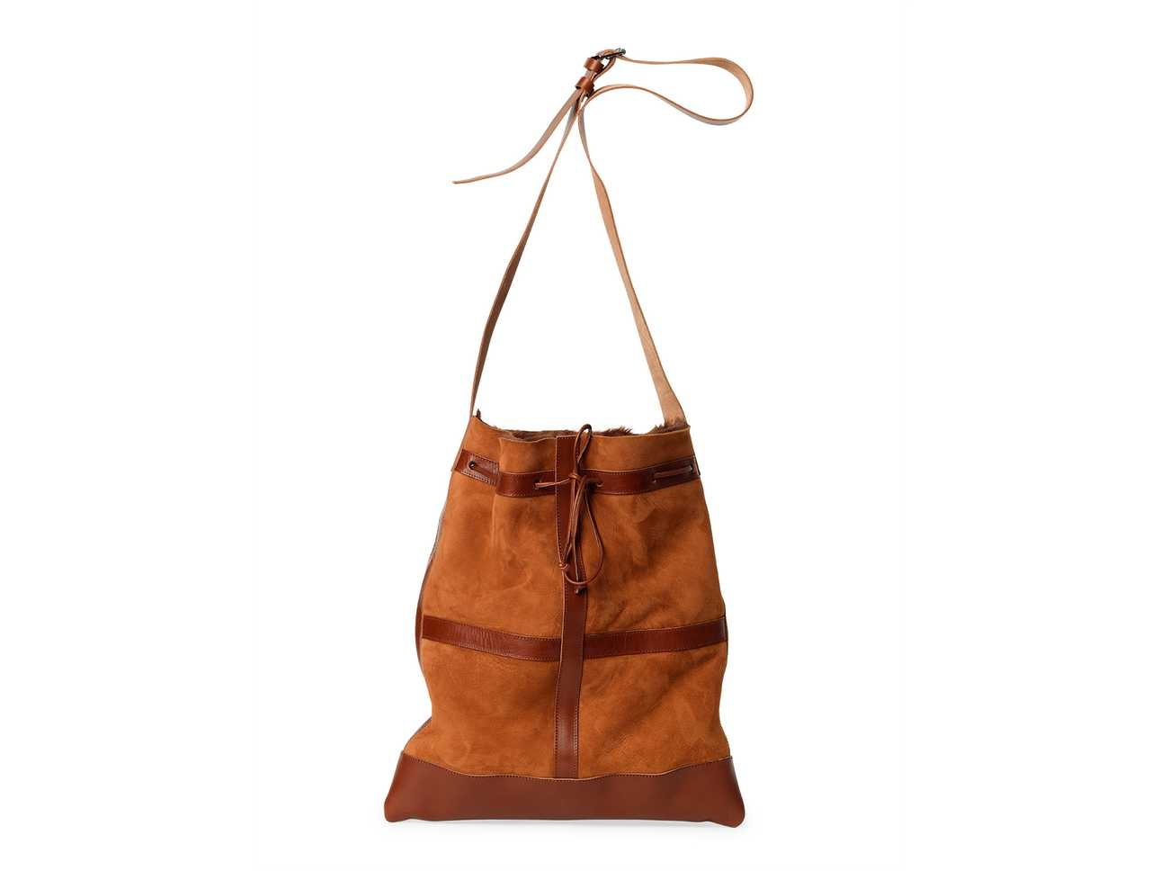 Shearling Bag Cognac
