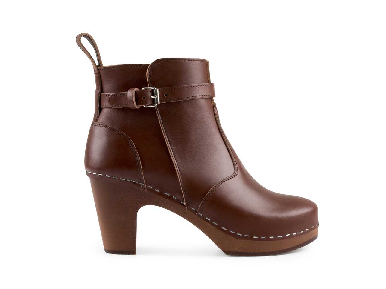 High Heeled Jodhpur Cognac/cognac sole