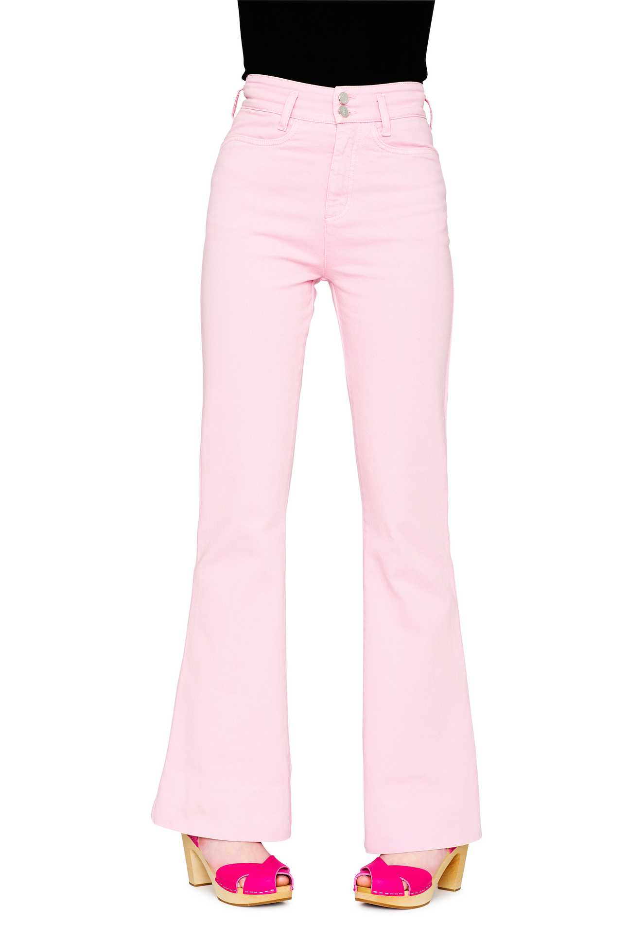 Flare Jeans Denim Light Pink