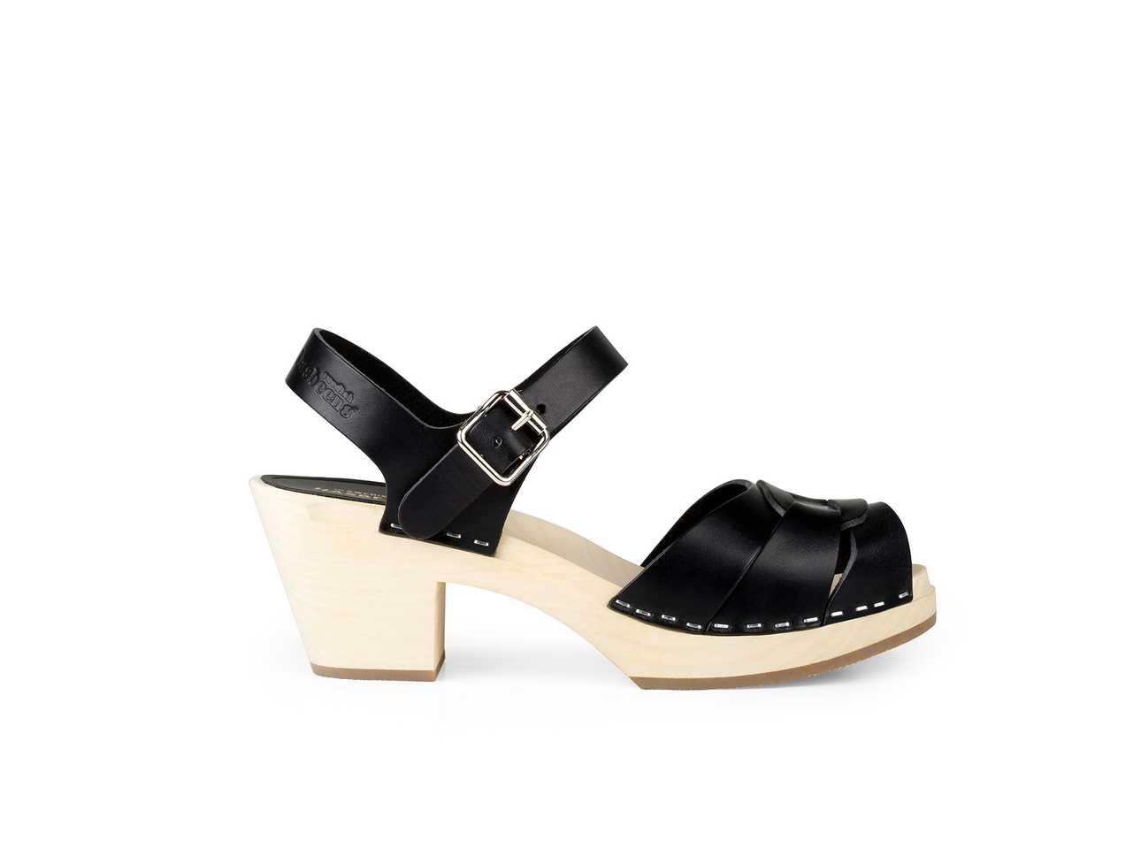 Peep toe High Black