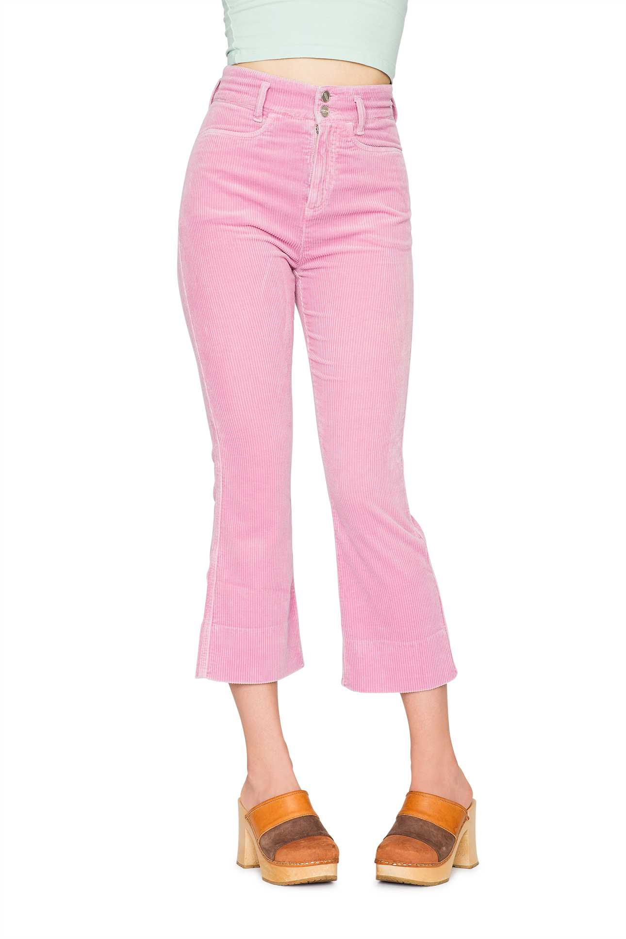 Short Boot Cut Pants Cord Bubble Gum Pink