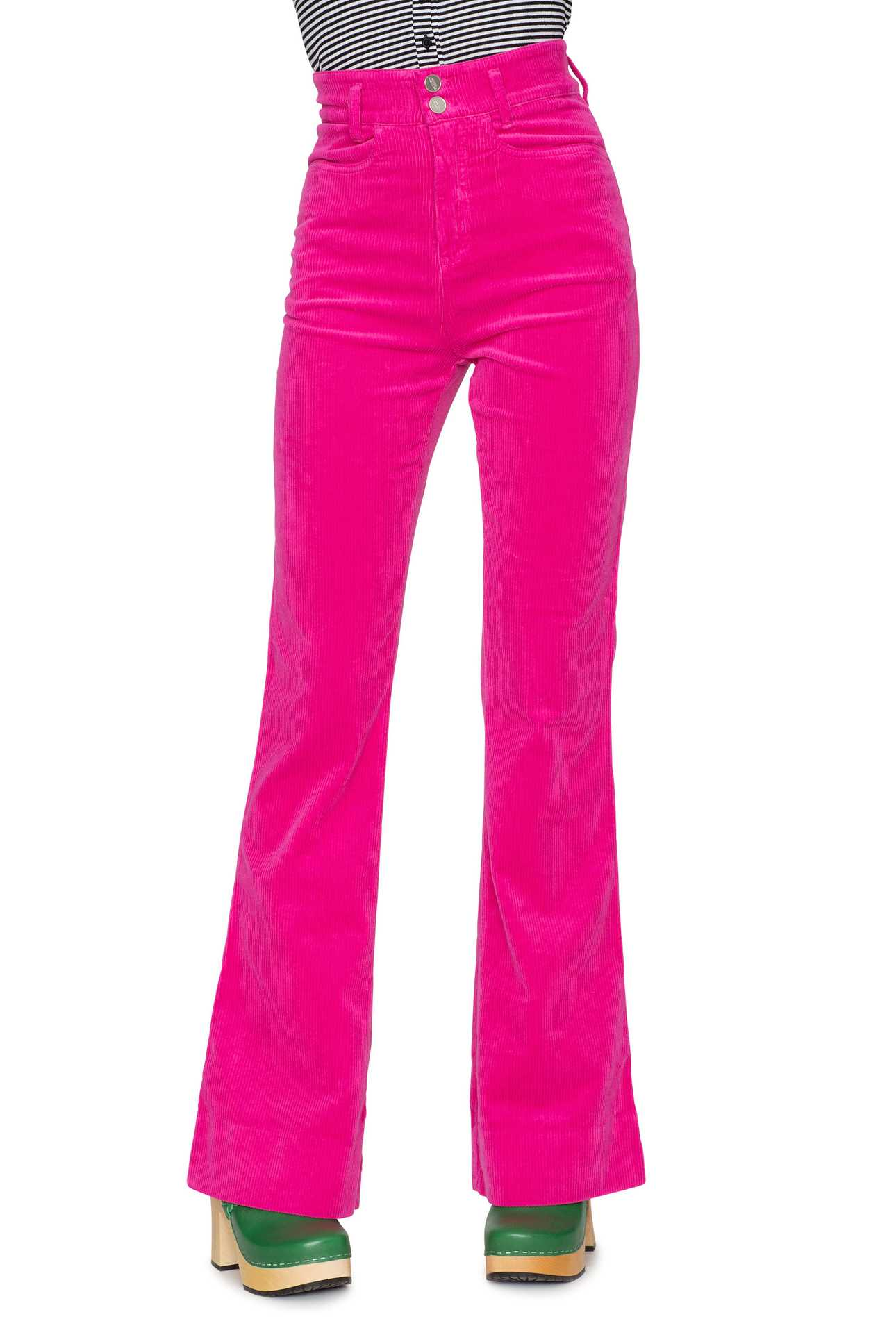 Flare Jeans Cord Strong Pink