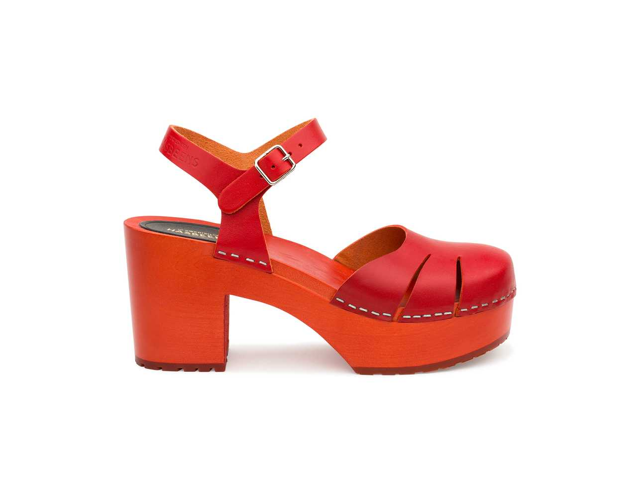 Baskemölla Sandal Red/red Sole