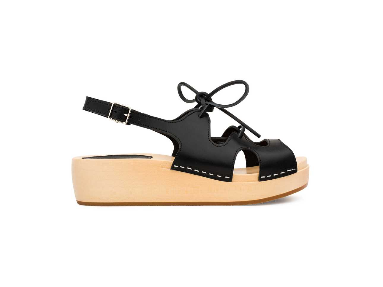 Lace Up Sandal Black