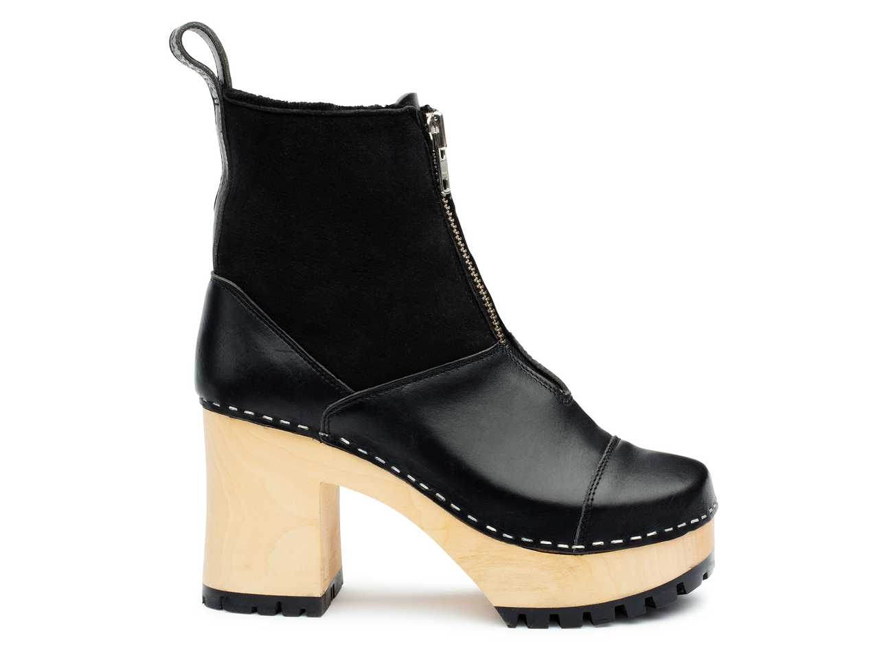 Grunge Boot Shearling Black