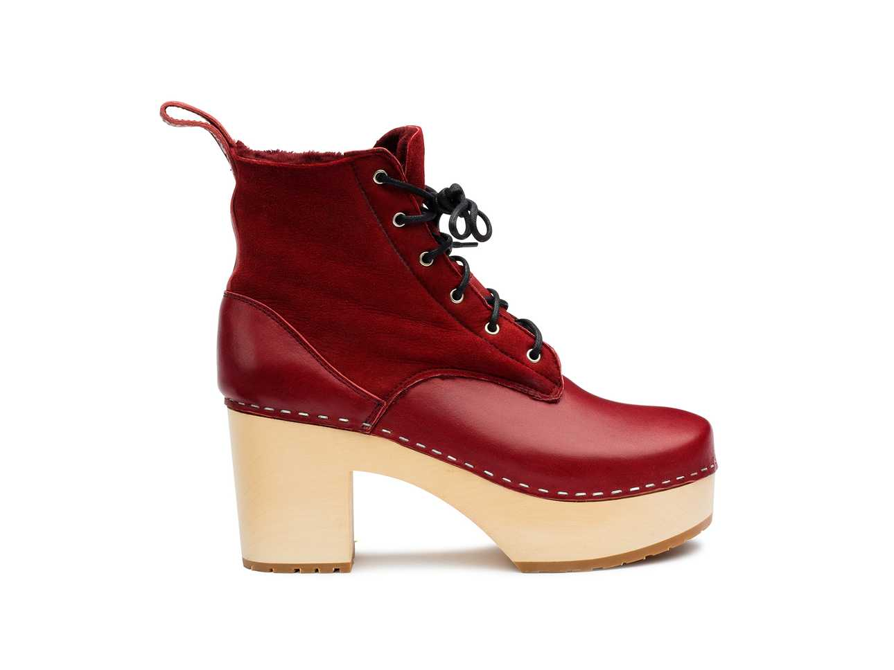 Hippie Lace Up Wine Red