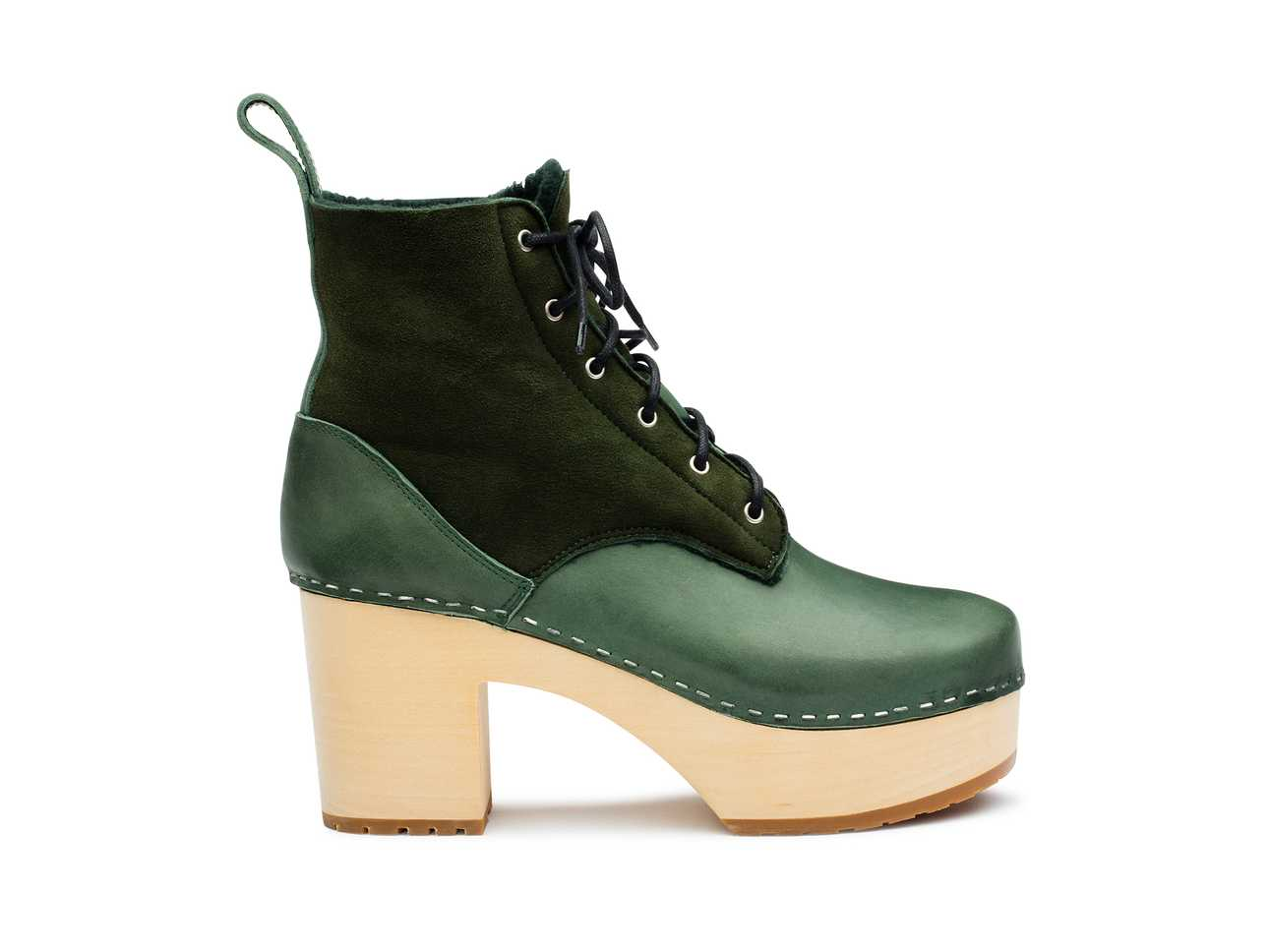 Hippie Lace Up Deep green
