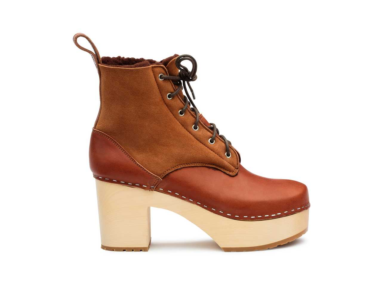 Hippie Lace Up Cognac