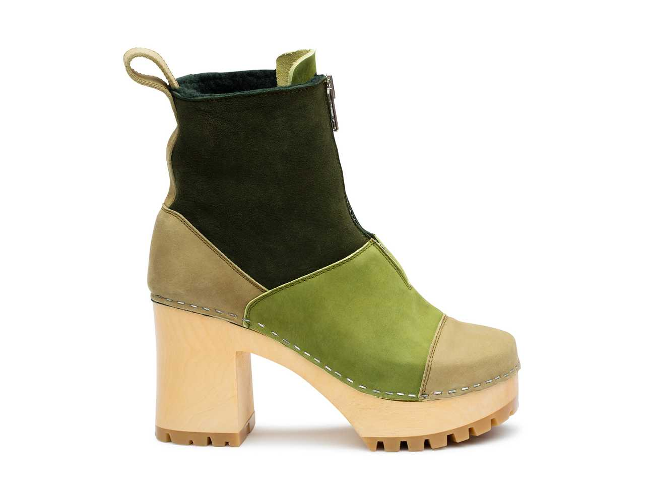 Grunge Boot Shearling  Green Nubuck Color Combo