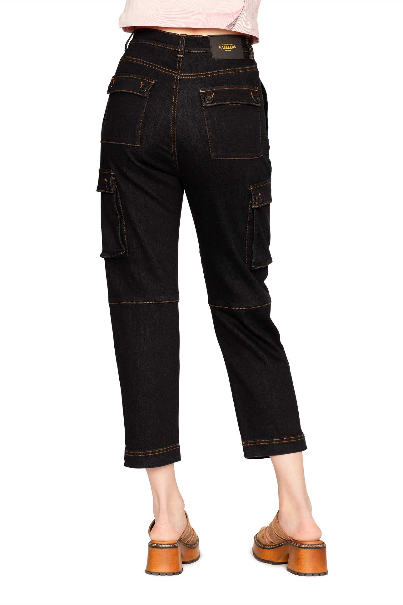 Cargo Pant Denim Mid Black Wash