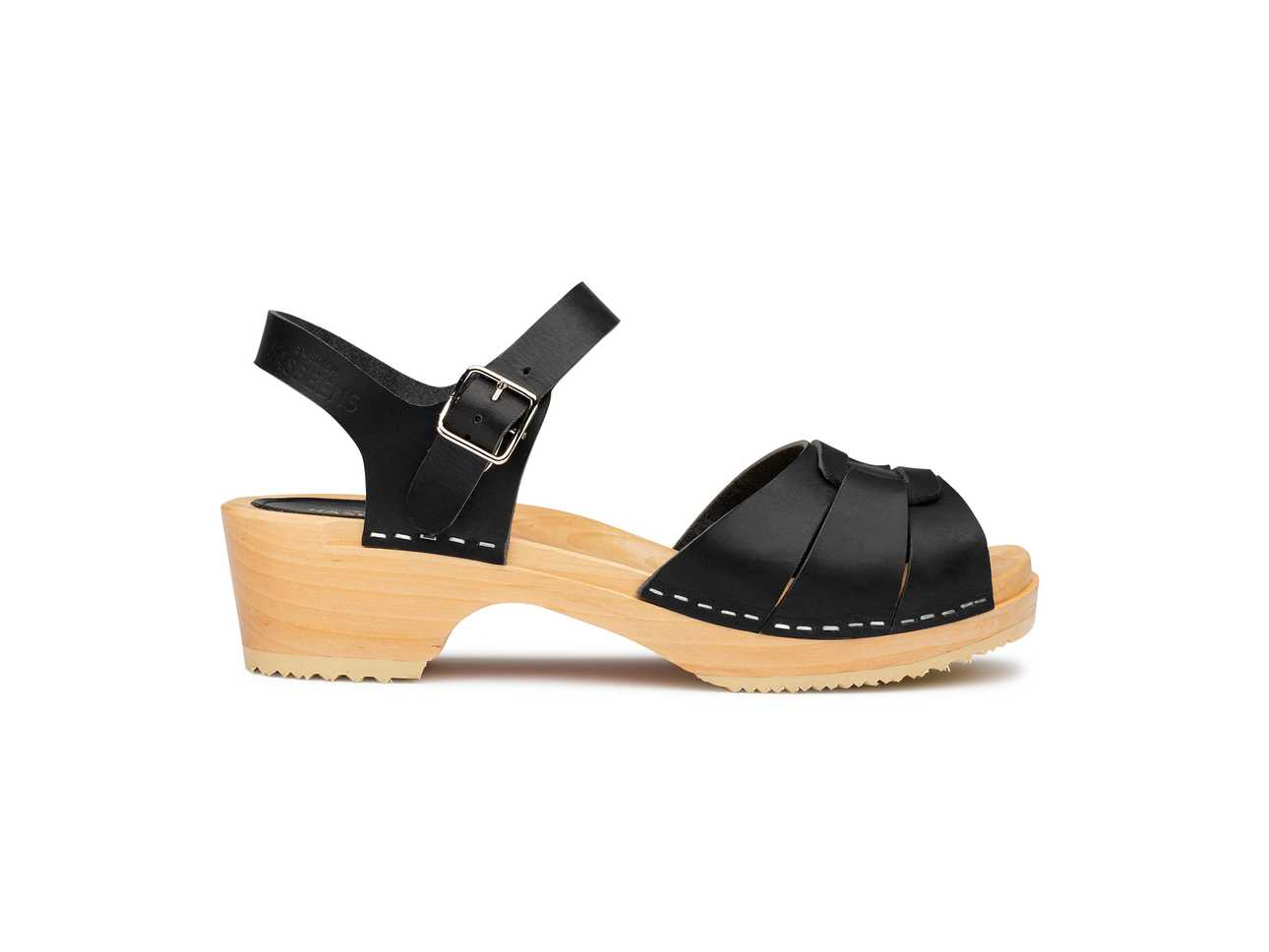 Peep Toe Low Black