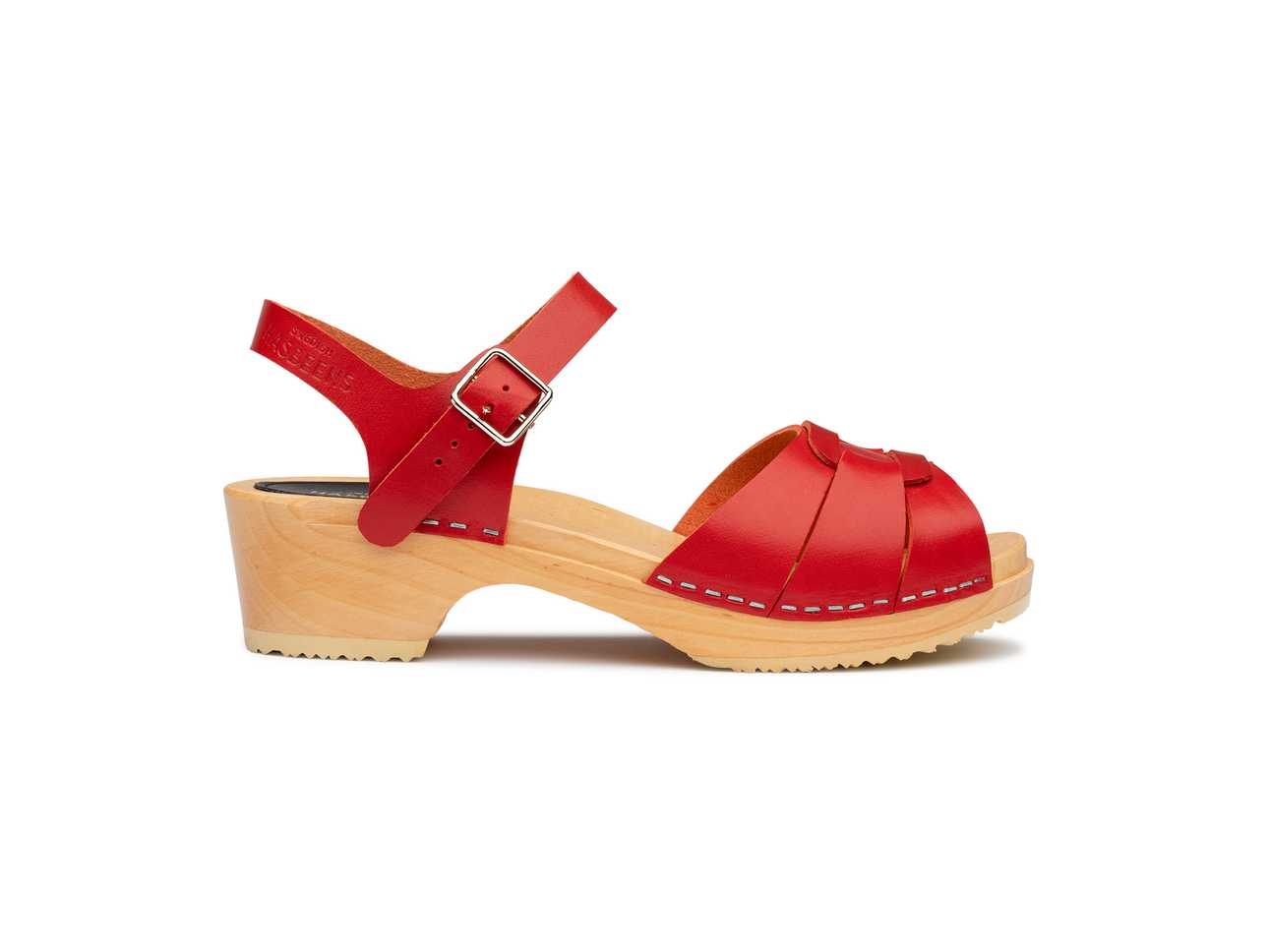 Peep Toe Low Red
