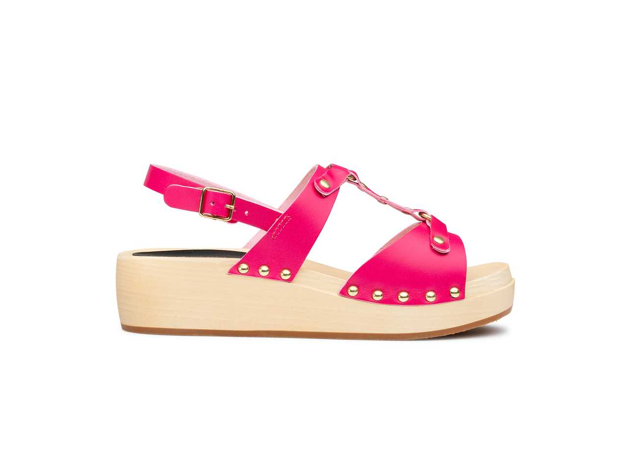 Rivet Sandal Cherry Pink