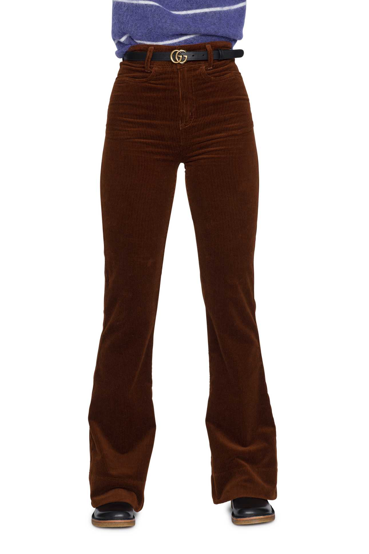 Flare Jeans Cord Warm Brown