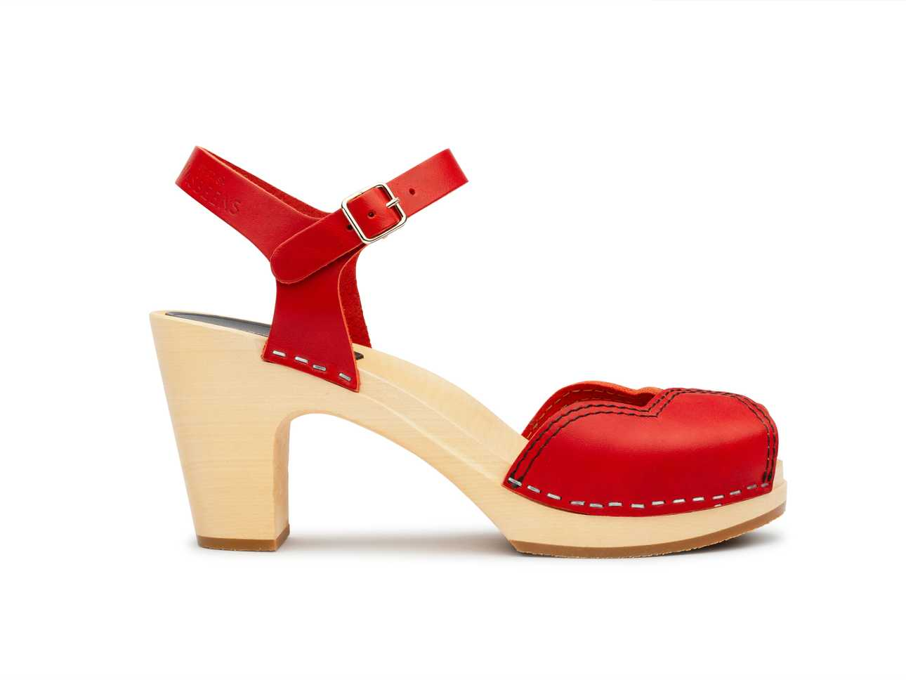 Heart Sandal Red