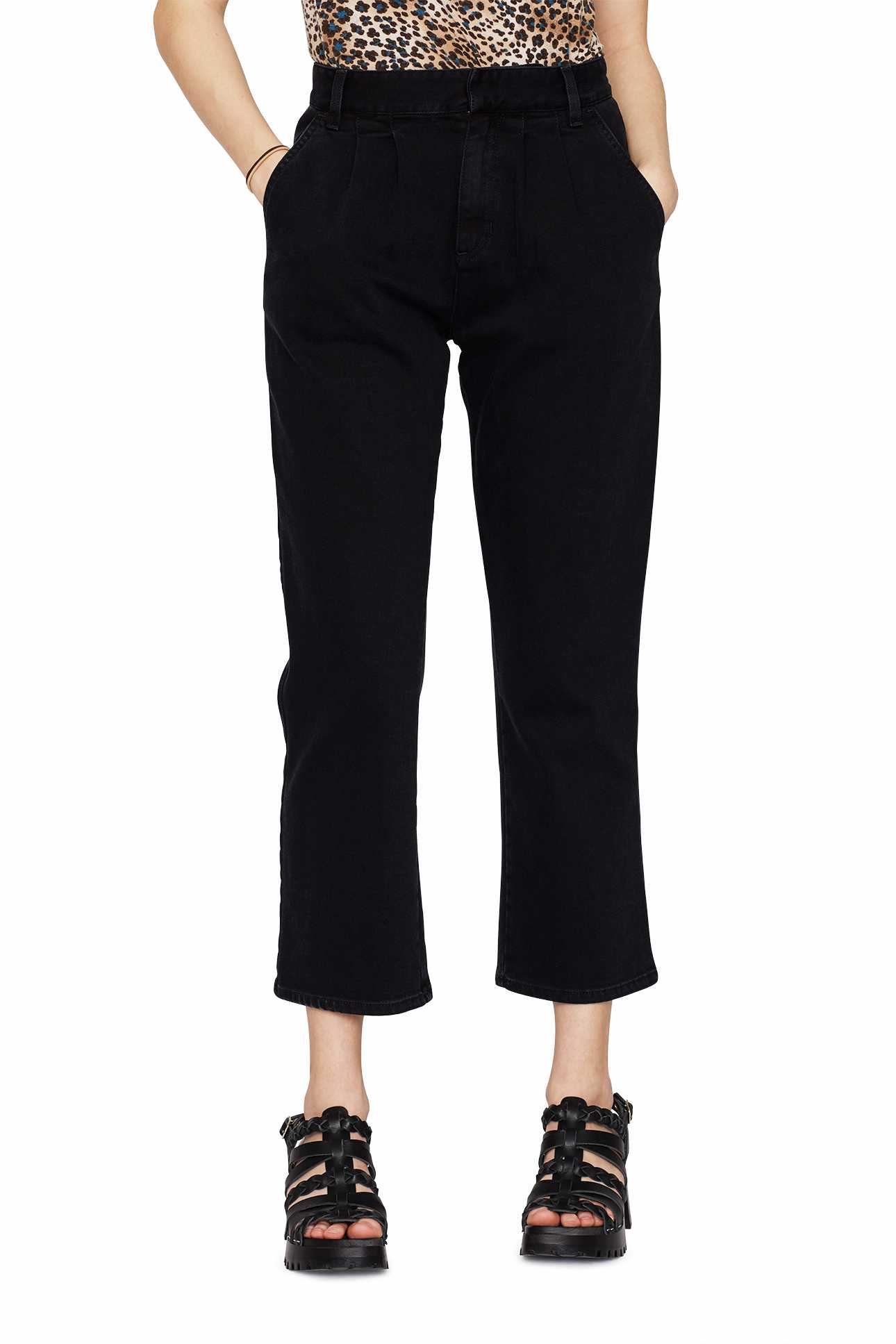 Pleat Pant Black Denim