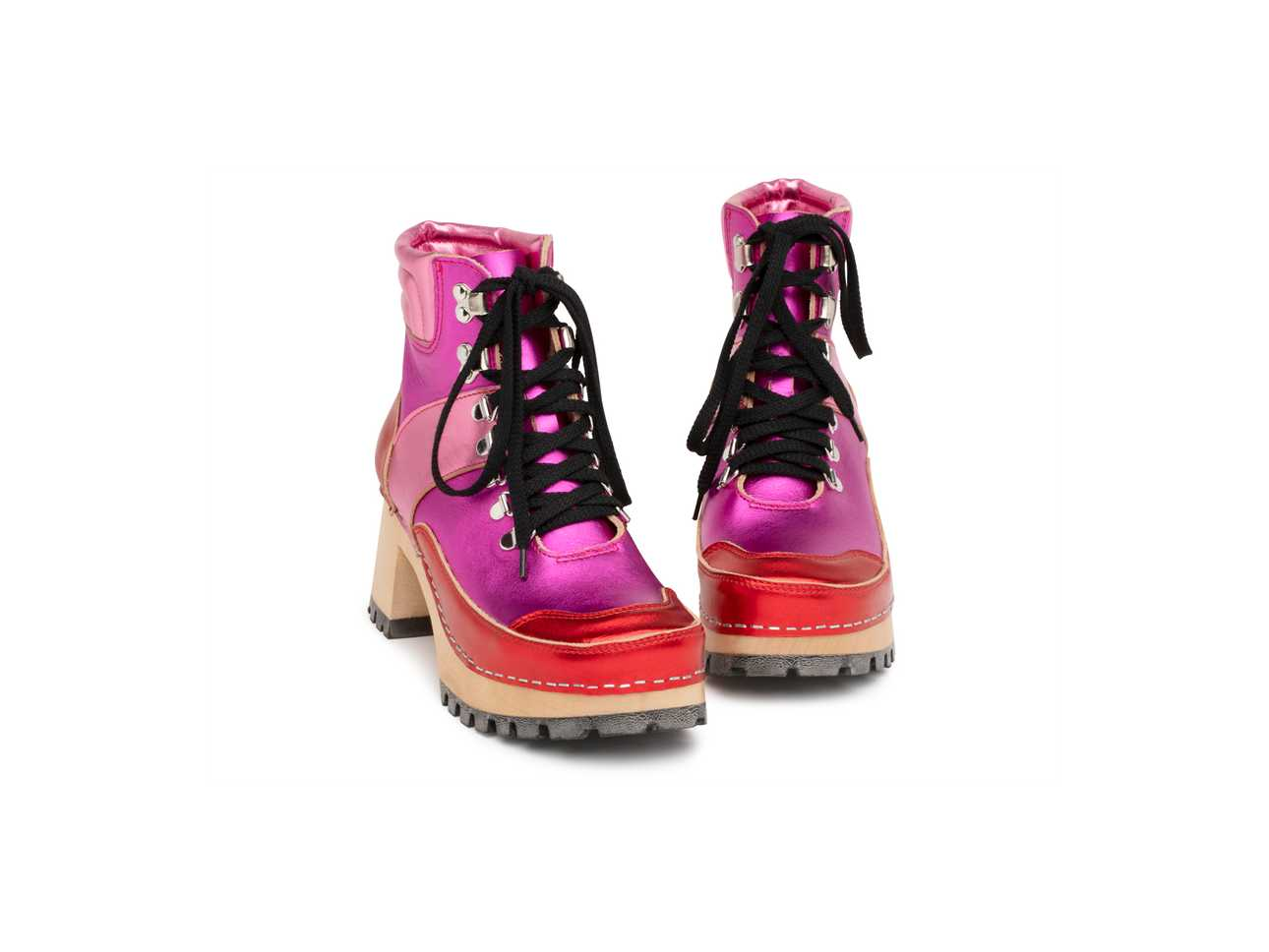 Trail Boot Clog Red/Pink Metallic Combo